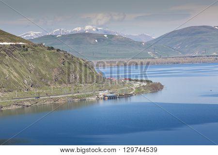 Sevan Lake In Armenia.
