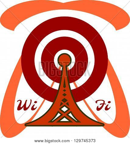 Wi Fi Symbol and text. Mobile gadgets technology relative image