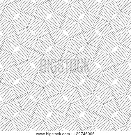 Art deco seamless pattern. Stylish modern geometric texture. Repeating polygonal shapes lines rhombuses. Vector abstract background