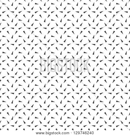 Seamless pattern. Modern stylish texture with repeating geometrical shapes random chaotic triangles. Vector geometric background