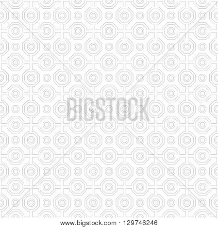 Geometric fine abstract pattern with vector light octagons. Seamless modern pattern