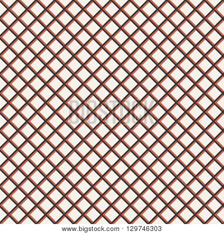 Tiled seamless pattern. Classical stylish texture. Regularly repeating grid with elegant geometric rhombic tiles. Vector seamless background