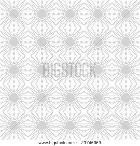 Seamless pattern. Mosaic abstract geometric background. Modern linear texture. Regularly repeating geometrical tiled grid with random intersecting thin lines. Vector design