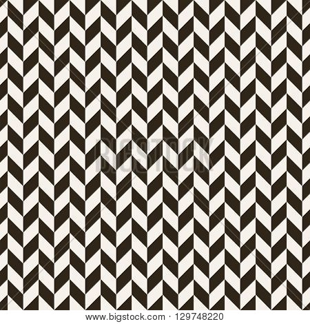 Classical seamless pattern. Modern stylish texture. Regularly repeating geometrical pattern with zigzag stripes. Vector abstract background