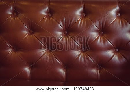 Leather Upholstery Brown Sofa Background For Luxury Decoration