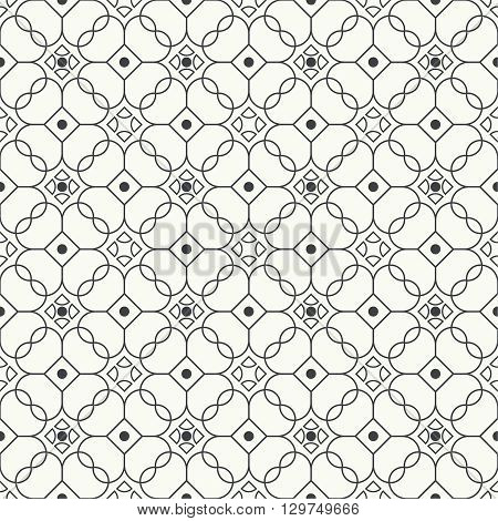 Geometrical seamless pattern. Repeating simple symmetric texture. Modern trendy design