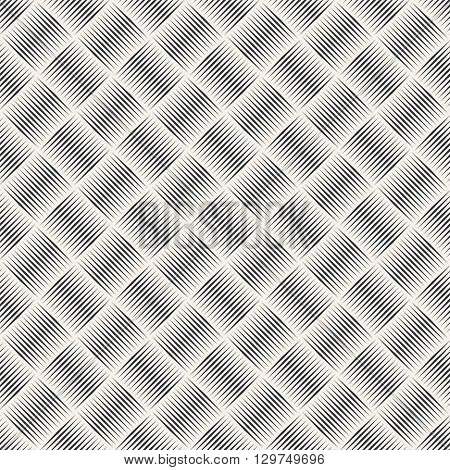 Seamless pattern. Abstract geometric background. Simple elegant texture with thin lines. Regularly repeating geometrical ornament with linear rhombuses. Vector element of graphical design