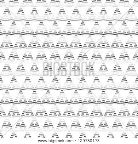 Seamless pattern. Modern stylish texture. Regularly repeating geometrical tiles with dotted triangles. Vector abstract seamless background