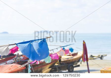 boat  , beach ,sea and sky background