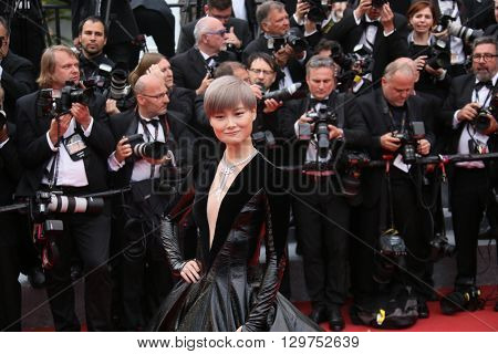 Li Yuchun attends 'The BFG' premier during the 69th Annual Cannes Film Festival on May 14, 2016 in Cannes.