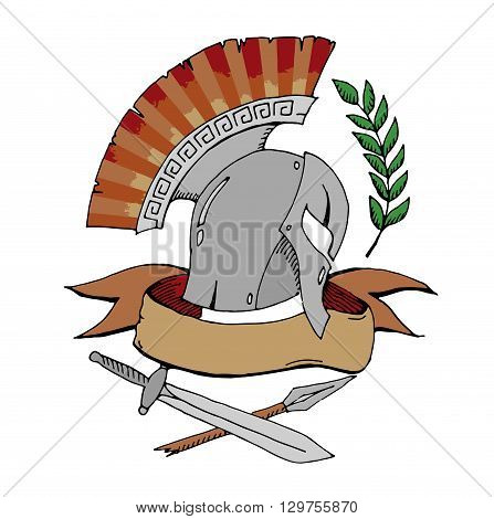 Sparta icon illustration isolated on white background