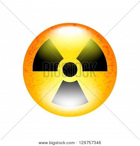 Radioactive symbol isolated on white vector illustration