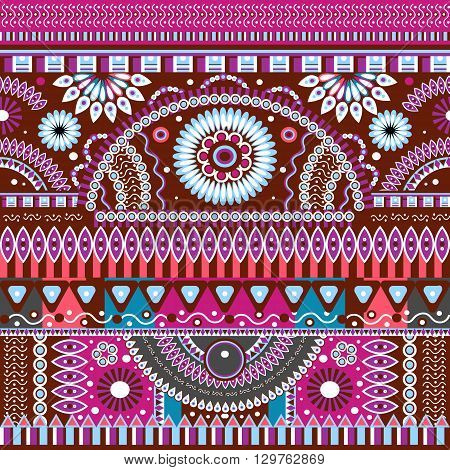Abstract seamless  tribal ethnic background, ethno , vector
