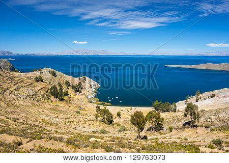 Panorama From Island Of The Sun, Titicaca Lake, Bolivia