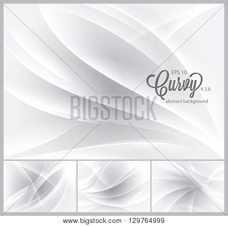A set of curvy abstract background. Each background separately on different layers. Available in 4 different colors and created in RGB mode. Suitable for your web background design element and other.