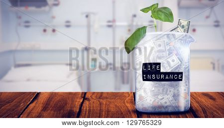 Life insurance message against sterile bedroom