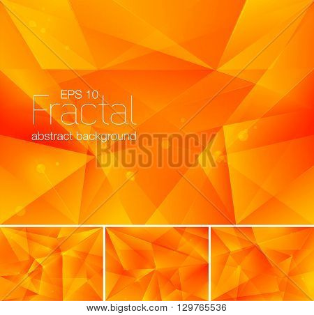 A set of fractal abstract background. Each background separately on different layers. Available in 4 variants and created in RGB mode