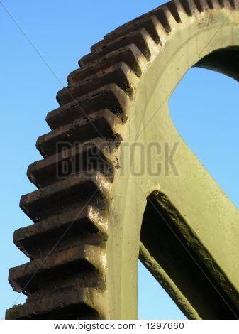 A Steel Wheel-Gear In A Lake-Dike In Germany