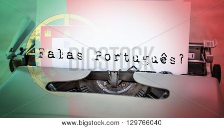 A sentence against digitally generated portugese national flag