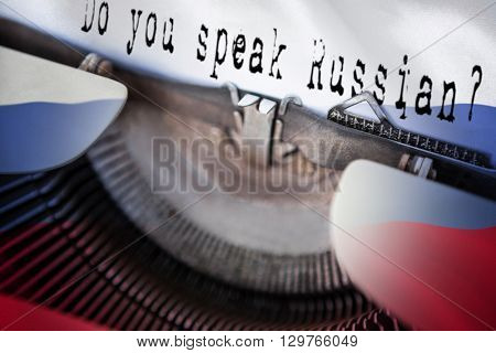 Sentence against digitally generated russian national flag