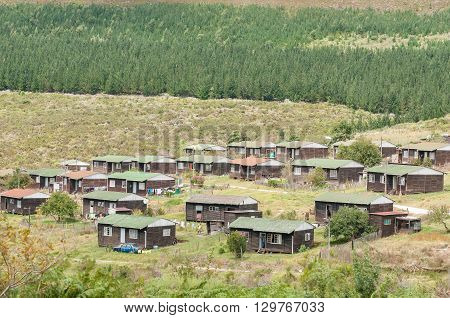 KNYSNA SOUTH AFRICA - MARCH 5 2016: The Buffelsnek forest village on the Prince Alfred Pass between Knysna and Uniondale.