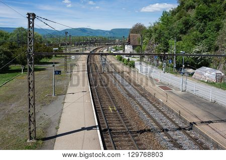 Railway station in town Culoz Haute Savoie province in France