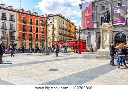 Isabel Ii Square  In Madrid.
