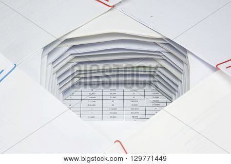Overload Paperwork Of Receipt And Report Place As Hole