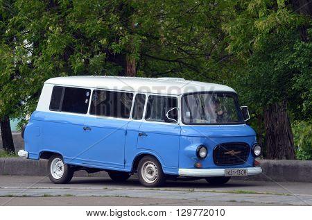 KIEV,UKRAINE - MAY 15, 2016: Downtown of Kiev Vintage transport