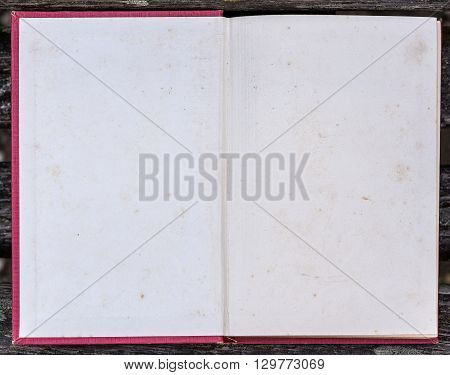 Blank Book Opened To The First Page.