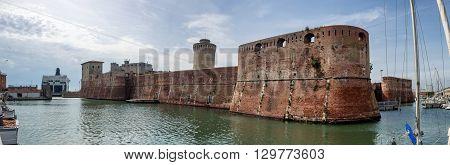 Fortezza Vecchia in Livorno in Tuscany Italy