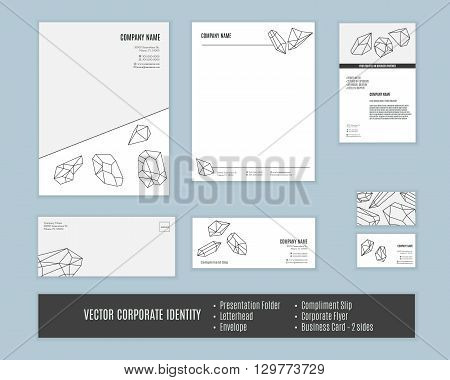 Corporate identity templates. Corporate identity design. Set of corporate identity. Classic stationery template design. Business stationary set. Corporate identity mock ups. Vector corporate identity.