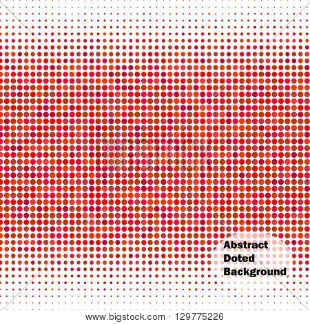 Abstract doted pattern. Red background. Halftone. Vector illustration for use in your design.