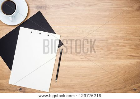 Table With Coffee And Paper