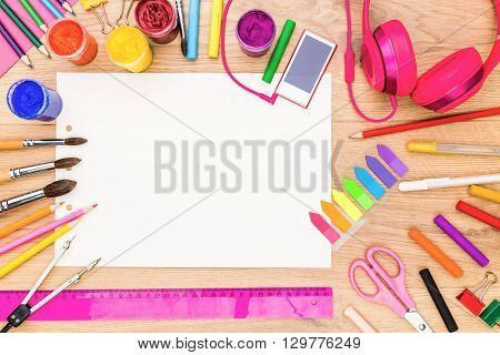 Girly Tabletop With Drawing Tools