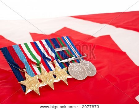 World War II Canadian Medals