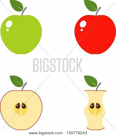 Set of apple vector icons. eps 10