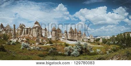 love valley Goreme Cappadocia Turkey in summertime