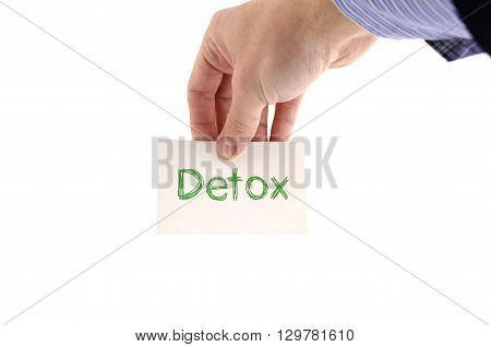 Detox text concept isolated over white background
