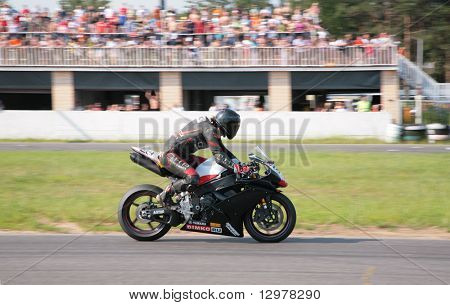 MOSCOW - JUNE 22: Bike in motion on The second stage of the Championship of Russia June 22, 2008 in autodrome Miachkovo, Moscow.