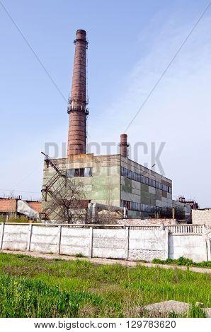 City landmark - Boiler room in Kerch Crimea