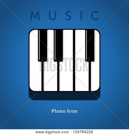Piano icon with rounded corners.