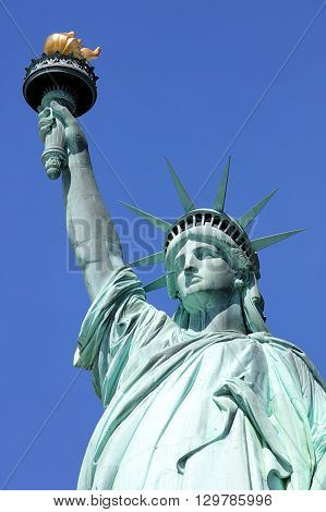 Statue Liberty in New York at day