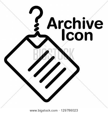 A creative and new archive icon for print or web