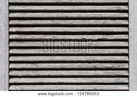 Wooden Shutters, Covering A Window Or Door