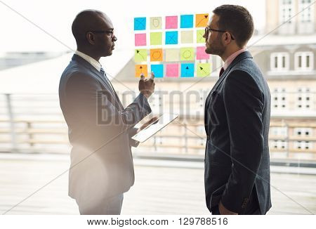 Two Businessmen Having A Serious Discussion