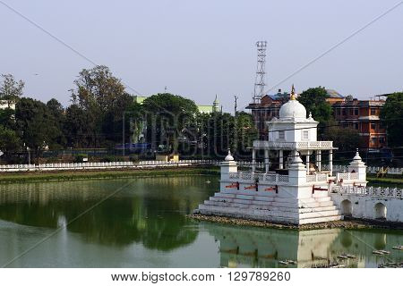 Rani Pokhari also a New Pond or a Pond Queen artificial reservoir in the Central part of Kathmandu the capital of Nepal. Is a local landmark