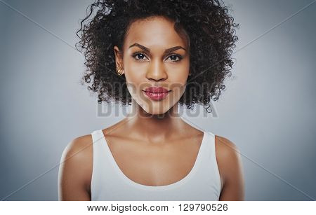 Young Upbeat Grinning Woman