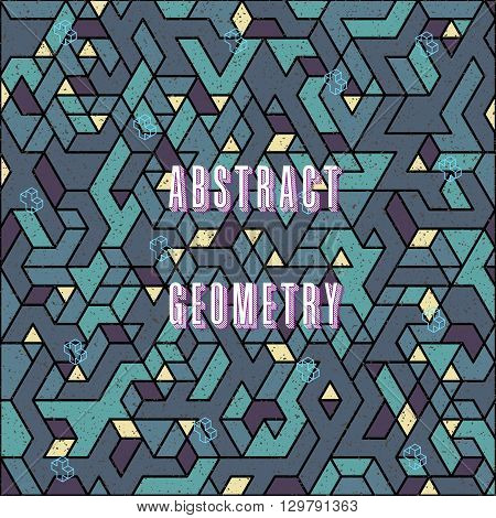modern trendy design isometric digital pattern, perfect as a background