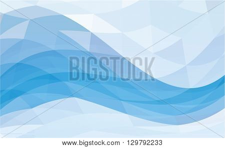 Abstract colorful blue vector template background - vector